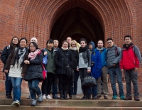 The group in front of GRUNEWALDTURM